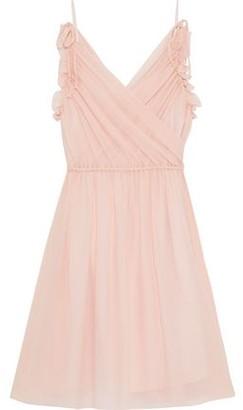 M Missoni Wrap-effect Silk-gauze Mini Dress