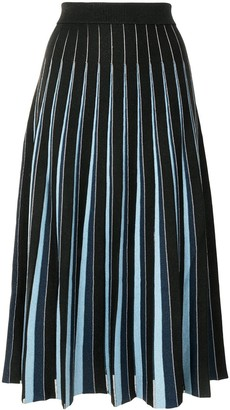 Jonathan Simkhai Gigi pleated stripe-print midi skirt