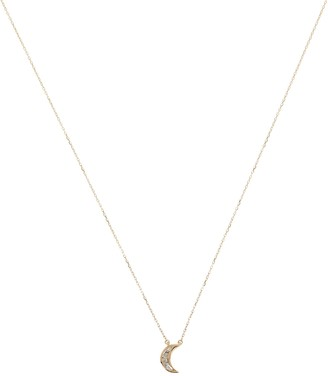 Adina Reyter Baguette Moon Chain Necklace
