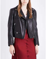 Helmut Lang Boxy leather biker jacket