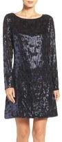 Vince Camuto Petite Women's Sequin A-Line Dress