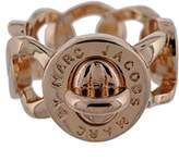 Marc by Marc Jacobs Womens Katie Logo Turn Lock Detail Right-Hand Ring Pink