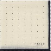 Reiss Cinta - Spotted Pocket Square in White, Mens