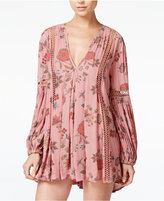 Free People Just The Two Of Us Printed Shift Dress