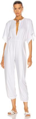 Norma Kamali Rectangle Jog Jumpsuit in White | FWRD