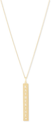 Sarah Chloe Leigh Engraved Vertical Bar Pendant Necklace with Diamond
