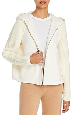 Theory Ribbed-Sleeve Cropped Jacket
