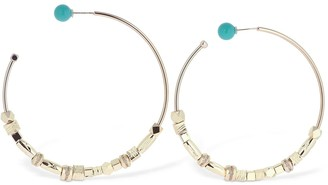 Iosselliani Large Reversible Hoop Earrings