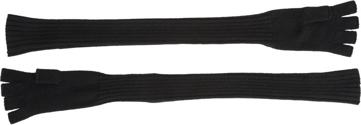 Barneys New York Extra-Long Fingerless Knit Gloves