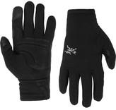 Arc'teryx Rivet Leather-panelled Polartec® Power Stretch® Tech Gloves - Black