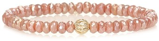 Sydney Evan Exclusive to Mytheresa Beaded bracelet with 14kt yellow gold and diamond bezel