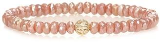 Sydney Evan Exclusive to Mytheresa Beaded bracelet with 14kt yellow gold and diamond bezel