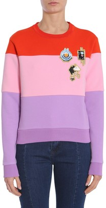 Carven Embroidered Colour-Block Sweatshirt