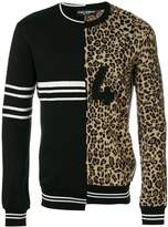 Dolce & Gabbana double design crew neck sweater