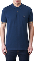 Pretty Green Tedburn Short Sleeve Polo Shirt, Navy