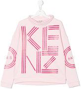 Kenzo teen logo turtle neck sweatshirt