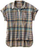 L.L. Bean L.L.Bean Signature Madras Shirt, Short-Sleeve