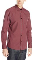 Volcom Men's Everett Mini Check Long Sleeve Shirt