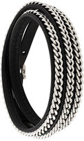 Salvatore Ferragamo chain-trimmed wrap bracelet