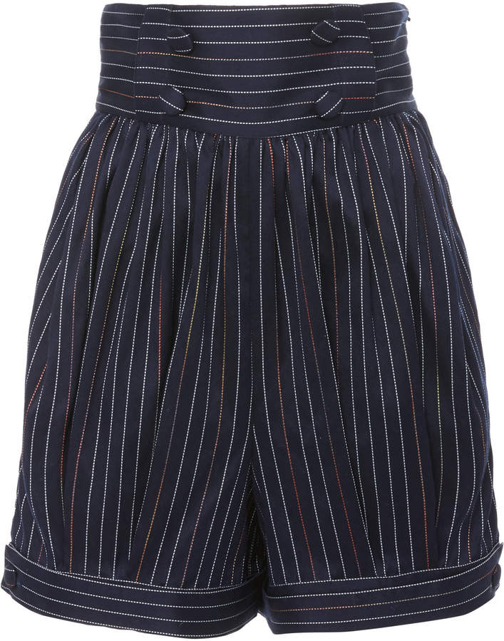 Prince Of Cambridge Pinstriped Cotton-Blend Shorts