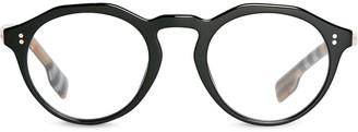Burberry Eyewear Vintage Check Detail Keyhole Round Optical Frames