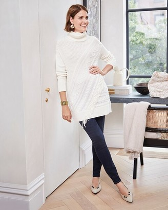 Chico's Turtleneck Cable-Knit Tunic