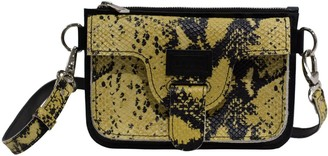 Kartu Studio Natural Leather Mini Cross Body Marigold - Black & Yellow Snake Print