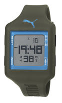 Puma Unisex Digital Army Green Square Sport Watch PU910791015