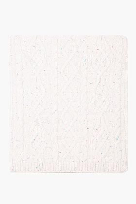 Raf Simons Cream merino wool cableknit confetti scarf