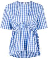 MSGM gingham ruffle blouse