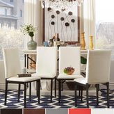 Inspire Q Darcy Metal Upholstered Dining Chair (Set of 4)