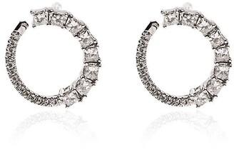 Dana Rebecca Designs 14kt white gold Sadie diamond wrap earrings