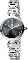 Just Cavalli 28mm Stainless Steel Logo Watch w/ Bracelet, Black Dial