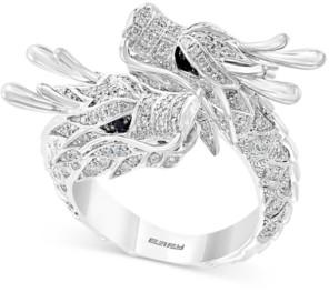 Effy Diamond Double Dragon Statement Ring (7/8 ct. t.w.) in 14k White Gold