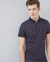 Ted Baker Diamond print polo shirt