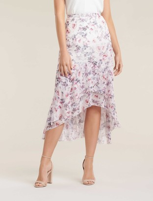 Forever New Isabella High-Low Skirt - Heavenly Bloom - 4