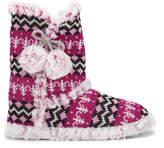 Dunlop Women's Abelle Fairisle Slipper Boots - Fuchsia
