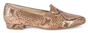 Sam Edelman Jordy Embossed Snake-Print Leather Loafers