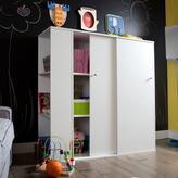 South Shore Storit Wood Laminate Kids Storage Cabinet with Sliding Doors in Pure White