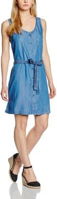 Cross Jeanswear Co. Cross Jeans Women's Denim Dress Short Sleeve Cover Up - Blue - 12 (Manufacturer Size: L)