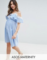 Asos Dress in Chambray with Crochet Trim