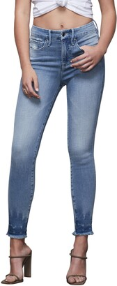Good American Good Legs Frayed Ankle Skinny Jeans