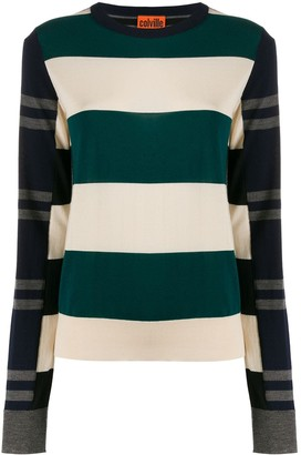 Colville Striped Color-Block Sweater