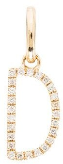 Rosa De La Cruz 18kt yellow gold diamond D charm