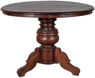 One Kings Lane Vintage Dutch Colonial Javanese Pedestal Table - FEA Home