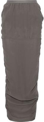 Rick Owens Soft Pillar Split-back Silk-crepe Maxi Skirt