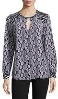 MICHAEL Michael Kors Snakeskin-Print Crepe Tunic