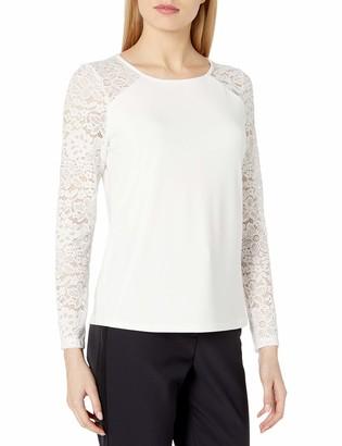 Tommy Hilfiger Women's Lace Longsleeve-Knit Top