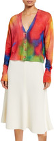 Le Superbe Palm Beach Tie-Dye Cashmere Cardigan