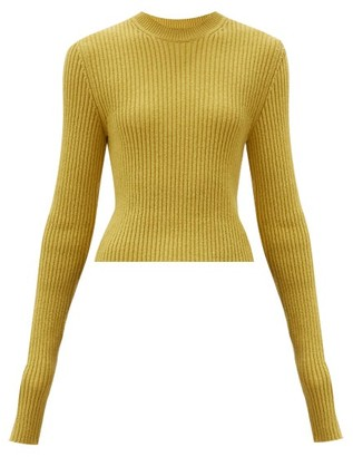 Bottega Veneta Elongated-sleeve Ribbed Sweater - Yellow